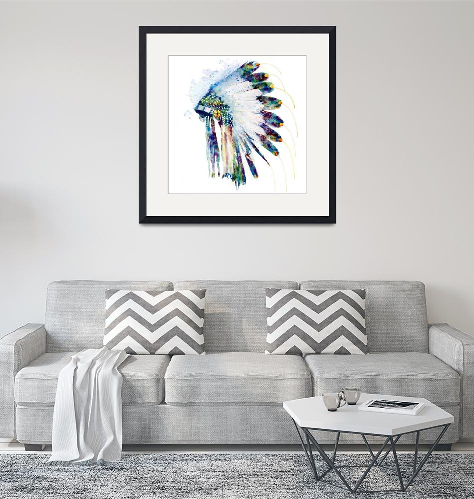 """""""Indian Colorful Headdress""""  (2019) by MarianVoicu"""
