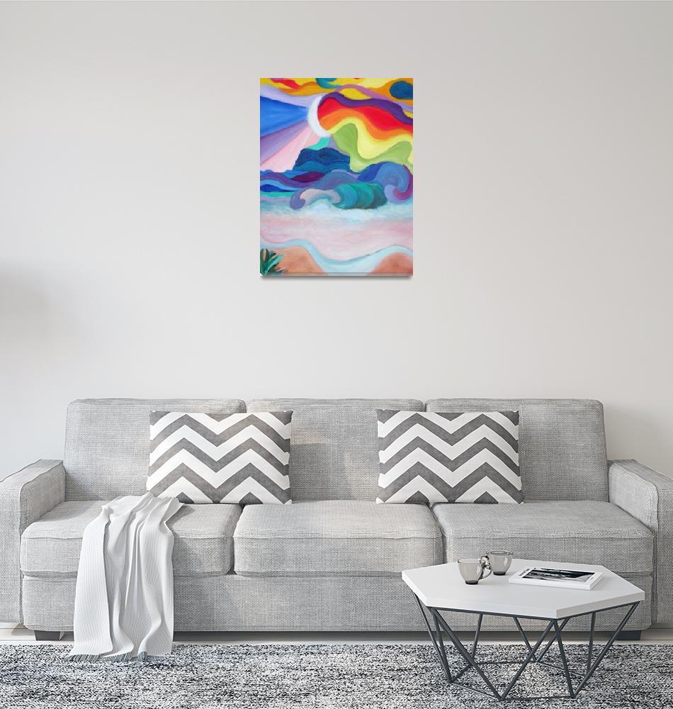 """Rainbow Beach""  (1987) by jackierukacreate"