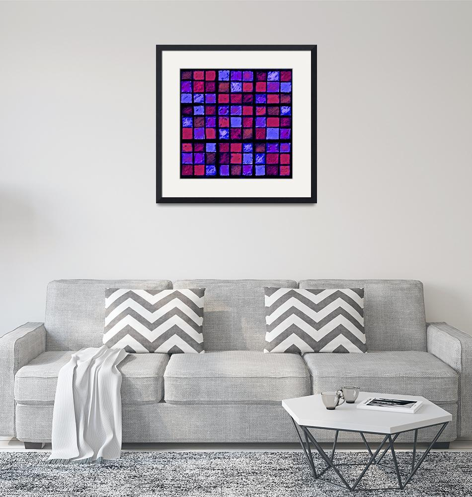 """Sudoku Abstract Red Purple""  (2012) by KsWorldArt"