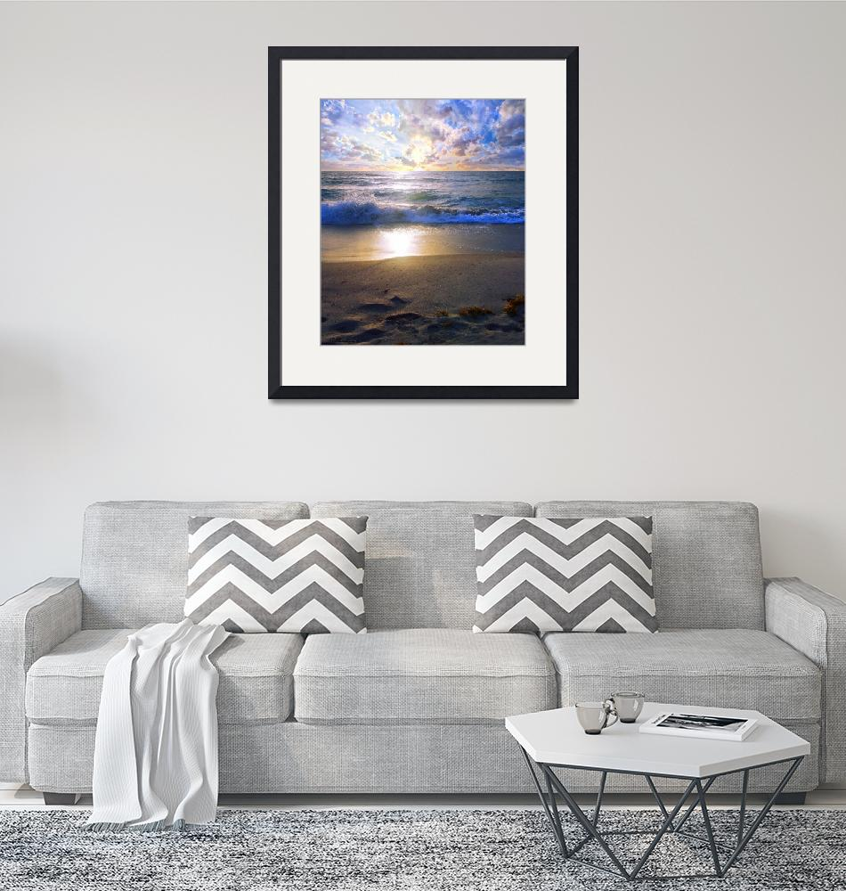 """Treasure Coast Florida Sunrise Seascape B7""  (2015) by Ricardos"