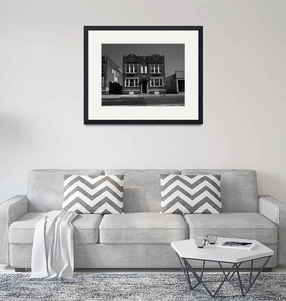 """""""Hackensack, NJ - Small Apartment House BW 2018"""" (2018) by Ffooter"""