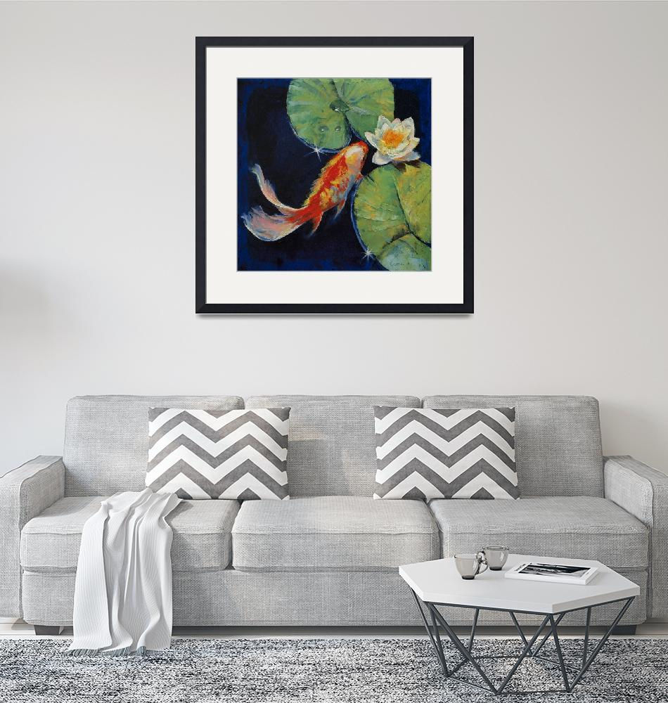 """""""Koi and White Lily""""  by creese"""