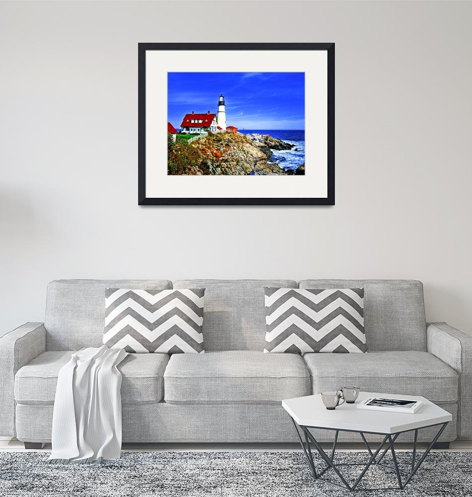 """Portland Head Light at Fort Williams Park, Maine""  by New-Yorkled"