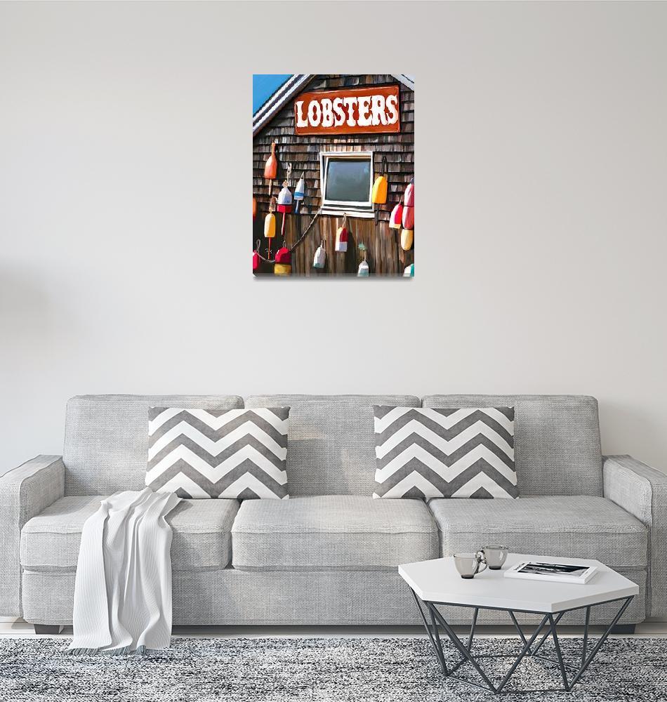 """lobster shack""  (2019) by tammyleebradley"