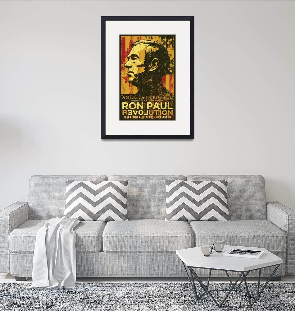 """""""Ron Paul Distressed Poster 2009""""  (2009) by libertymaniacs"""