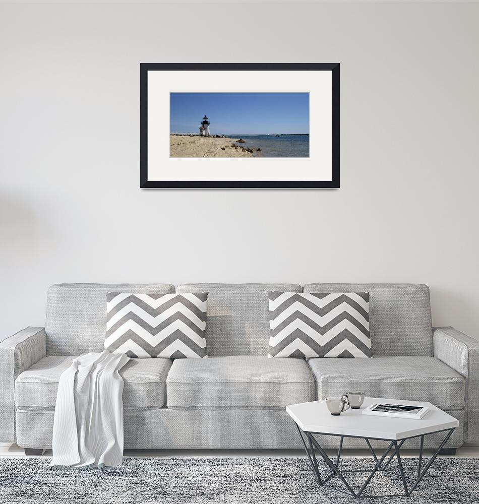 """Beach with a lighthouse in the background""  by Panoramic_Images"