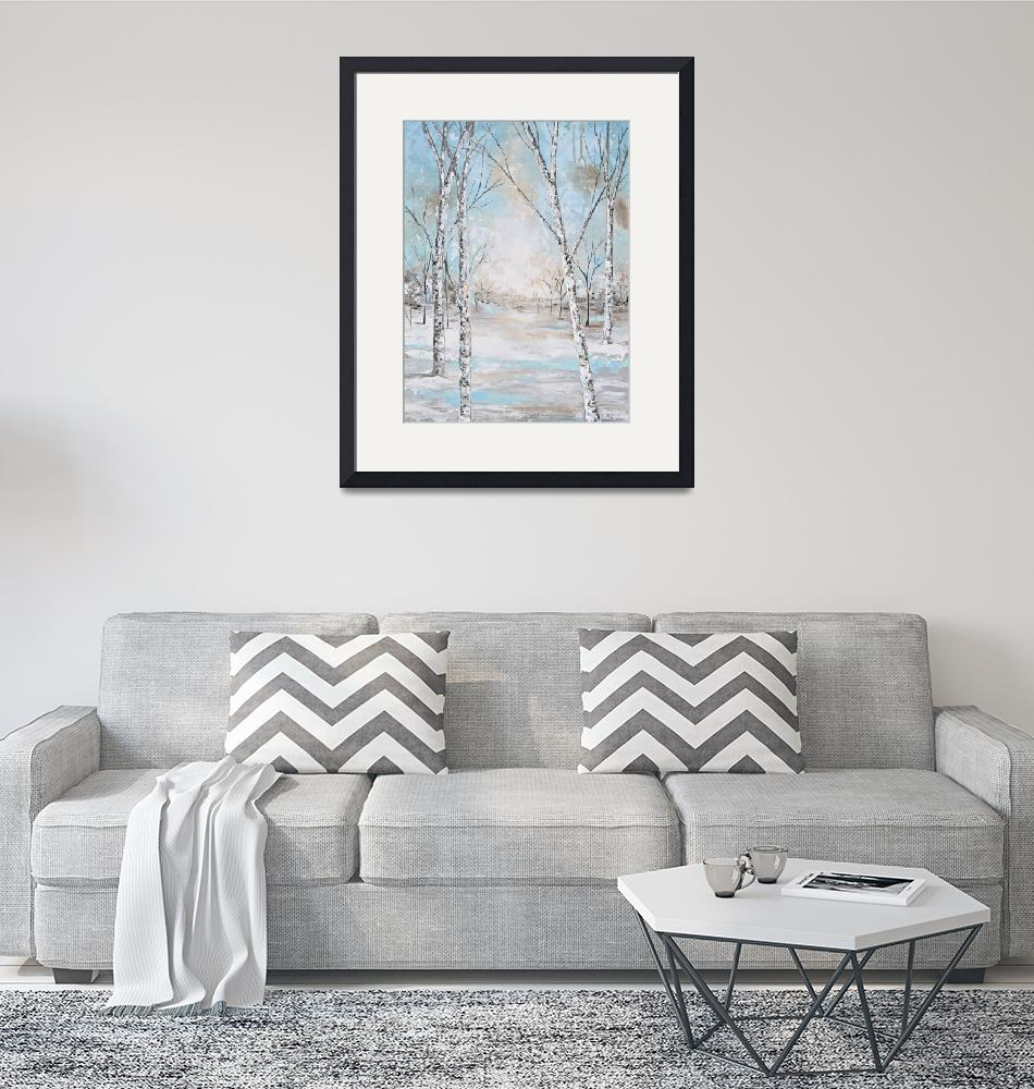 """""""Renewal - Abstract Birch Trees"""" (2019) by ChristineBell"""