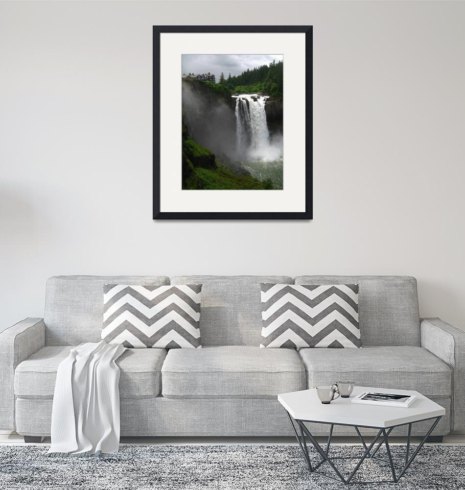 """""""Snoqualmie Falls""""  (2007) by kenrainwaterphotography"""