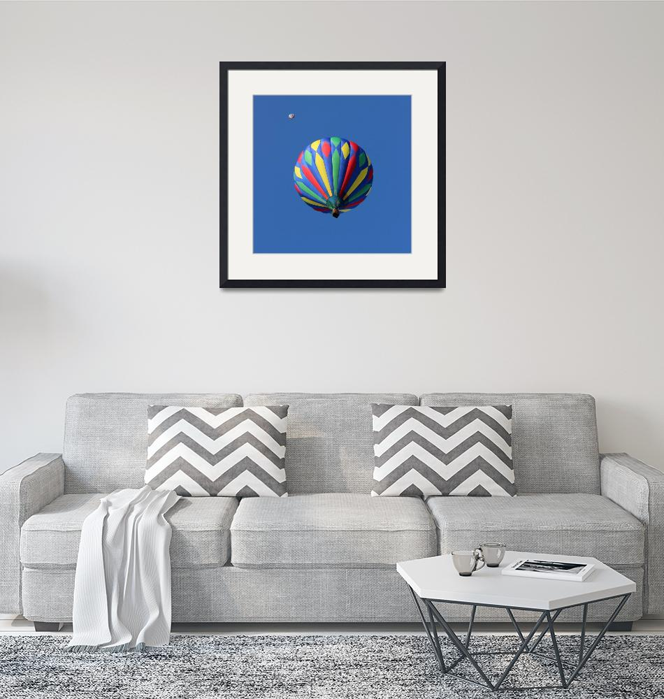 """Two Hot Air Balloons Square""  (2015) by KsWorldArt"