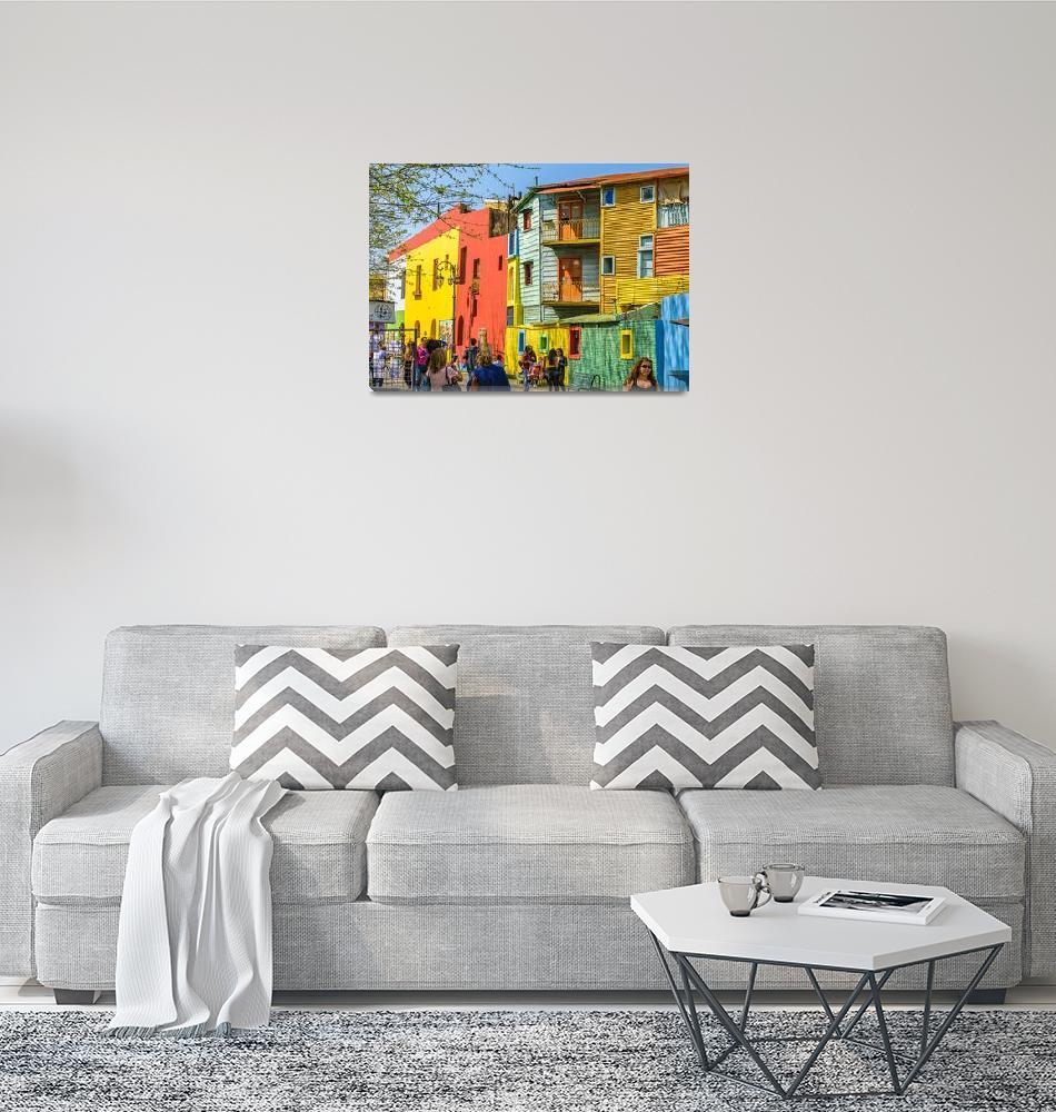 """La Boca, Buenos Aires, Argentina""  (2018) by danfleitesart"