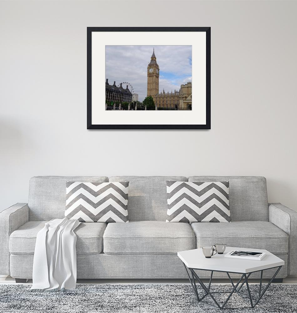 """""""Big Ben and The London Eye""""  (2012) by blackcat9965887"""