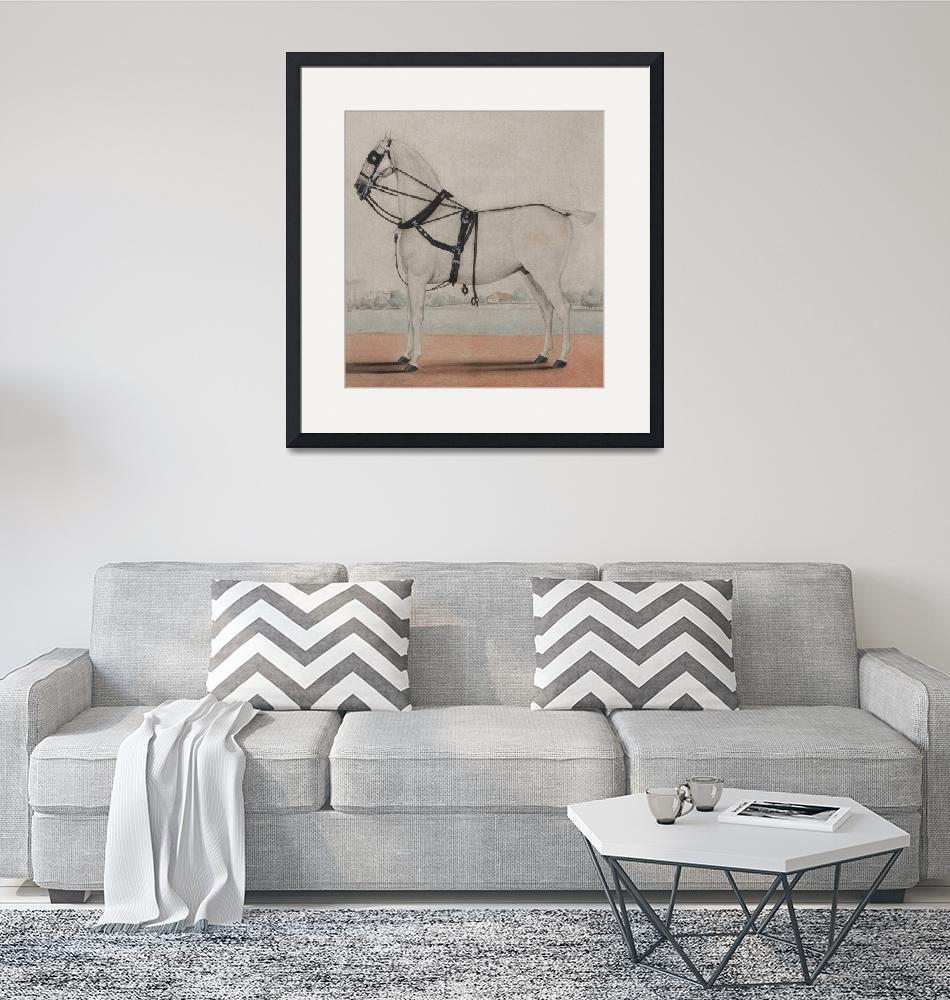 """""""Vintage Carriage Horse Painting (1845)""""  by Alleycatshirts"""