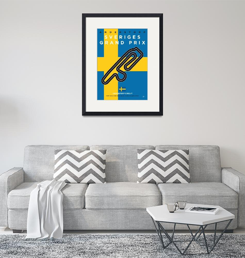 """""""My F1 ANDERSTORP Race Track Minimal Poster"""" by Chungkong"""