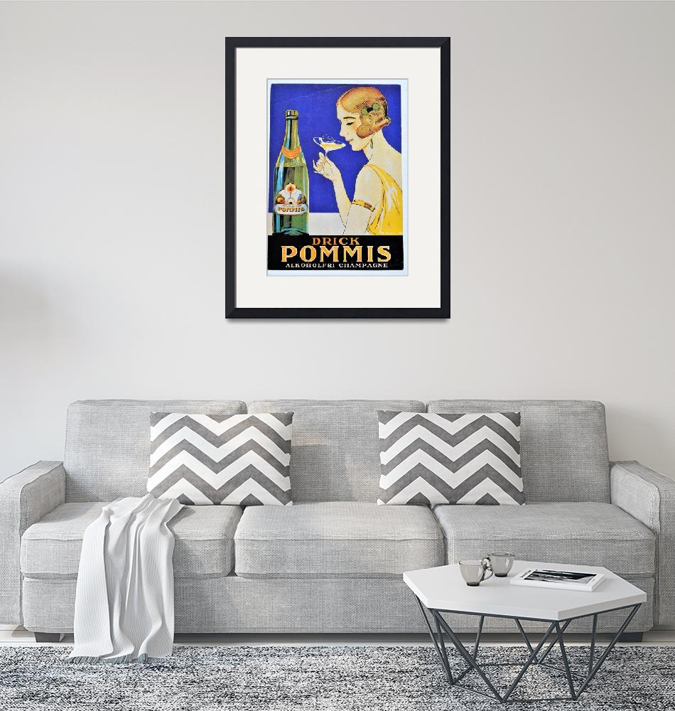 """""""Drick Pommis Champagne Vintage Poster""""  by FineArtClassics"""