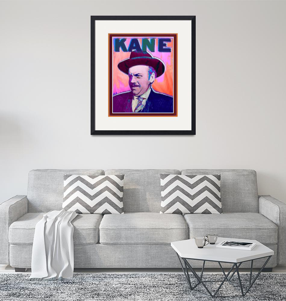 """""""Citizen Kane Orson Welles Campaign Poster Color""""  by RubinoFineArt"""