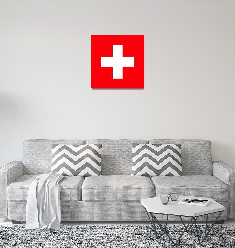 """Flag of Switzerland""  by ArgosDesigns"