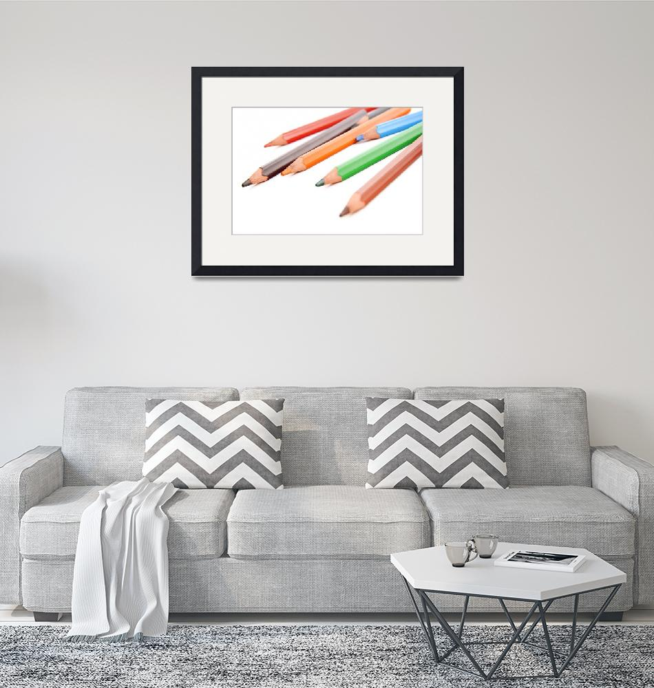"""""""Assorted colored pencils""""  (2011) by sebnemkoken"""