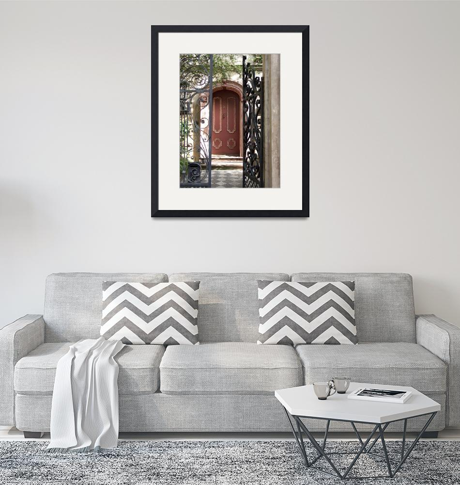 """Charleston Door & Iron Gate""  by PadgettGallery"