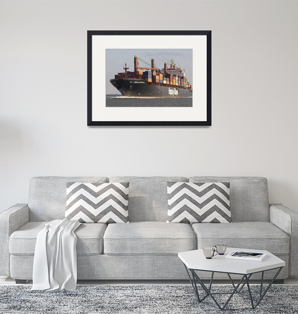 """""""St Louis Express Container Ship Hapag Lloyd""""  (2011) by DustinKRyan"""