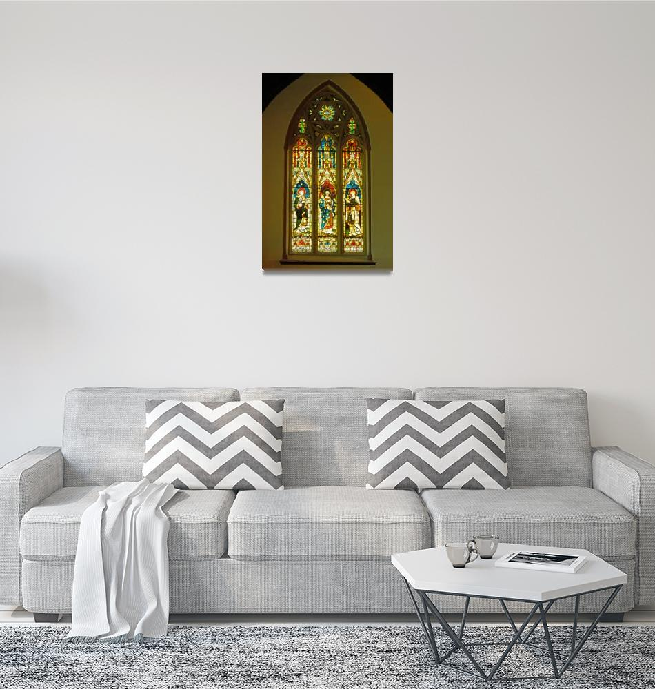"""""""3 Apostles South Stained Glass Window Christ Churc""""  (2010) by Markomarko"""