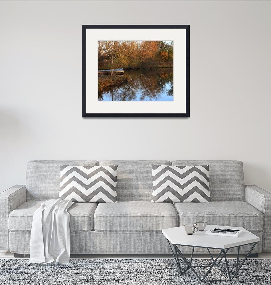 """""""Fall day at the pond""""  (2010) by kcmodb"""
