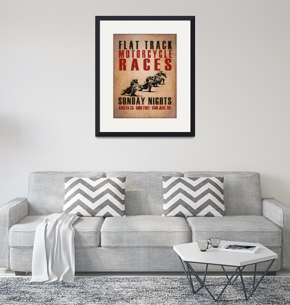 """""""Flat Track Racers""""  (2015) by mark-rogan"""