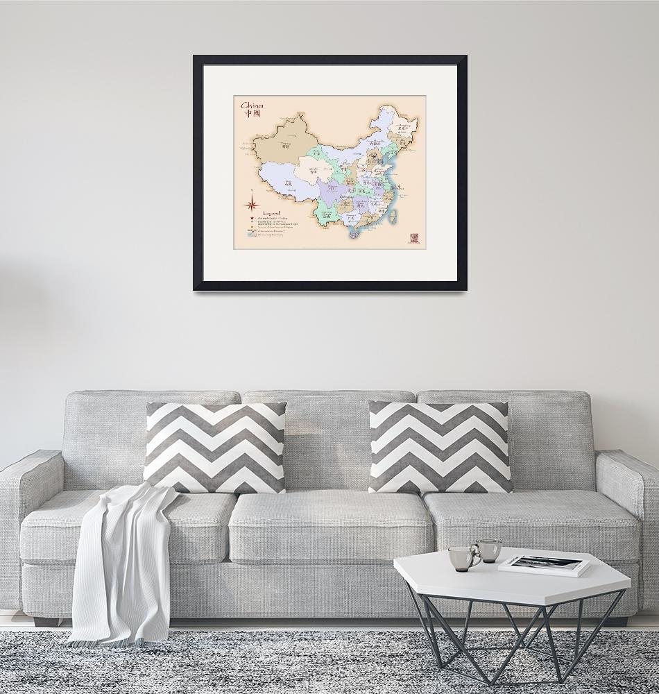 """China Map Special Edition Fine Art""  (2008) by redthreadmaps"