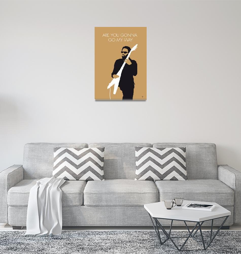 """No050 MY LENNY KRAVITZ Minimal Music poster""  by Chungkong"