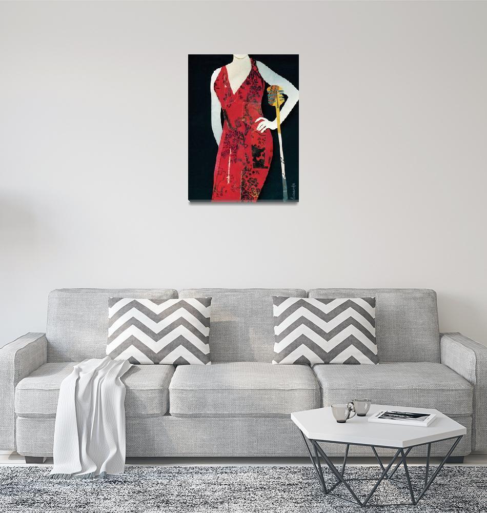 """""""Jazz Woman Red""""  (2011) by waynebrezinka"""