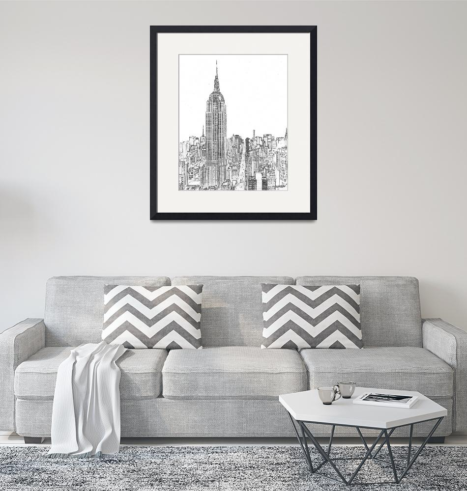 """""""New York City Empire State Building and 5th Ave"""" (2020) by RDRiccoboni"""