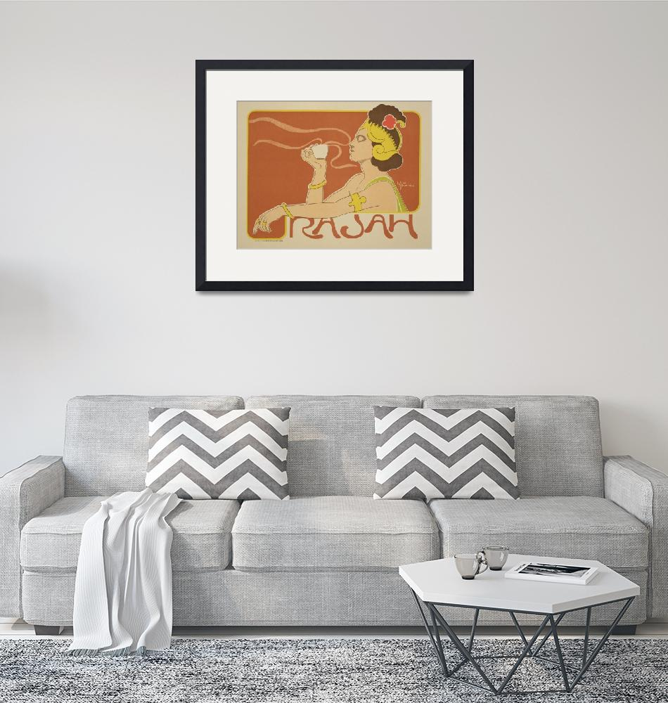 """""""Cafe Rajah Vintage Poster Advertisement""""  by fineartmasters"""