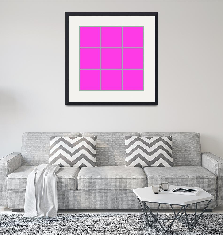 """""""Pink Window 178 Canvas Contemporary Modern""""  (2010) by Ricardos"""