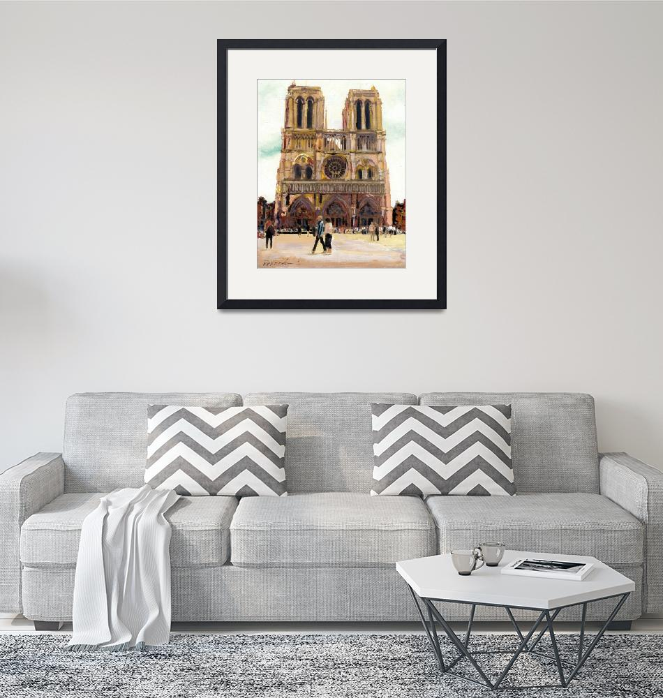"""""""Notre Dame Cathedral by RD Riccoboni""""  by RDRiccoboni"""