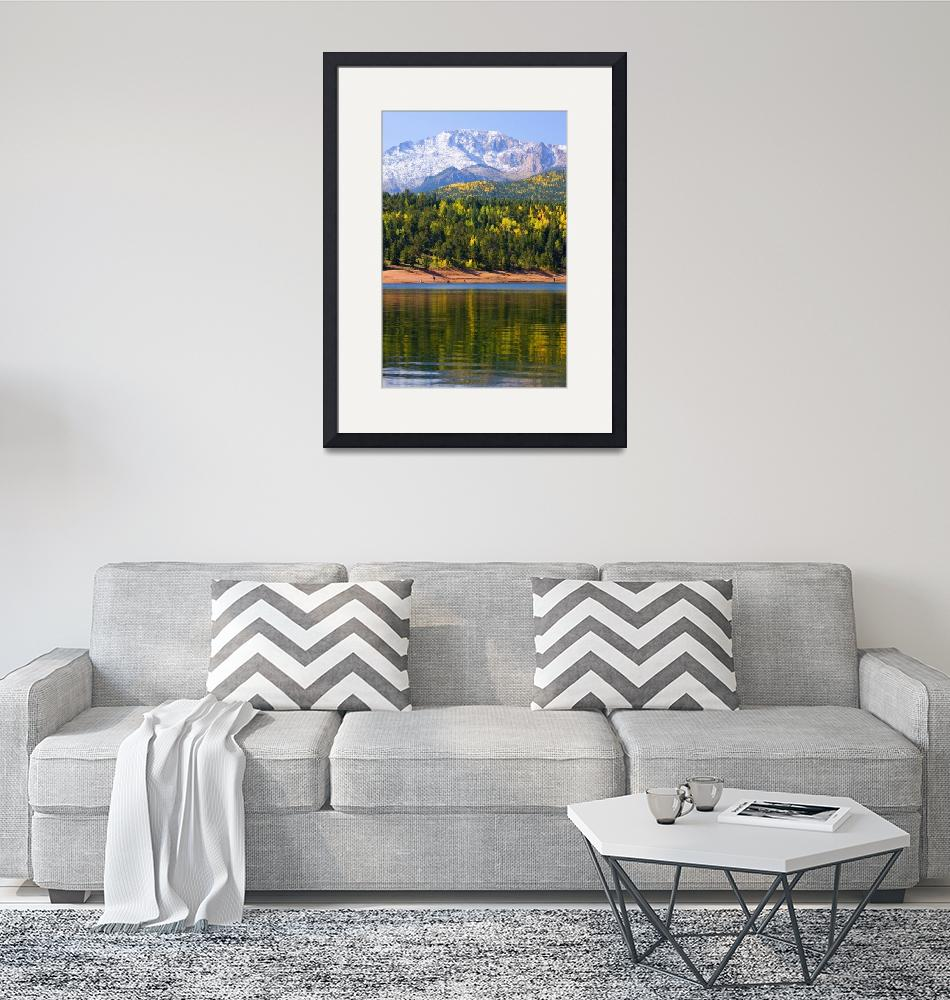 """""""Crystal Reservoir and Pikes Peak""""  (2014) by swkrullimaging"""