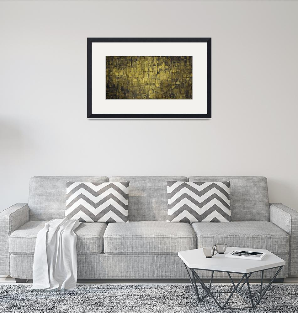 """""""Olive Green Abstract Art"""" (2015) by modernhouseart"""