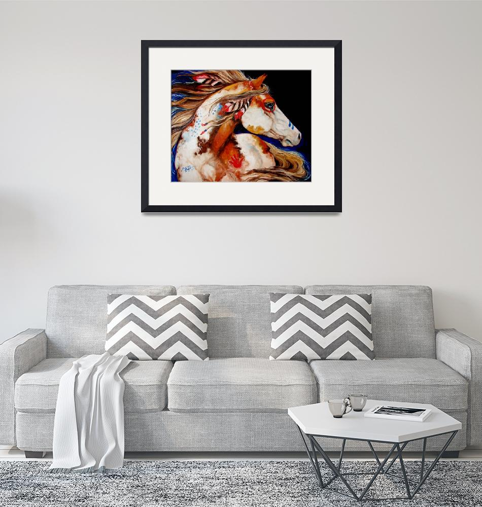 """INDIAN WAR HORSE"" (2011) by MBaldwinFineArt2006"