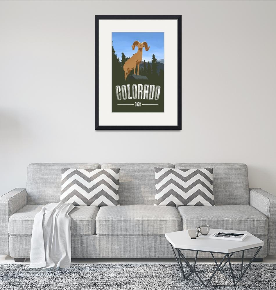 """""""Colorado Travel Poster""""  (2016) by blue67sign"""