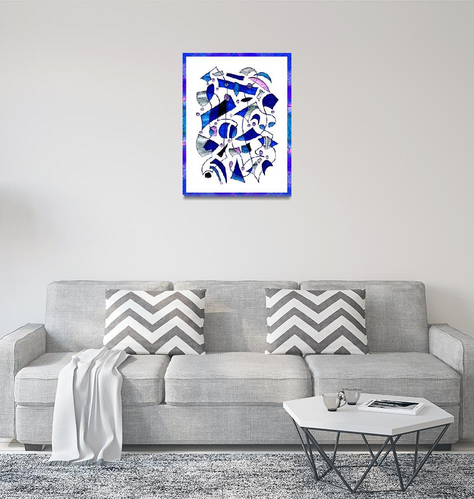 """Blue Muse""  (2005) by Markomarko"