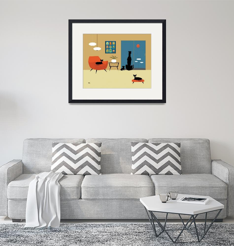 """""""Mid Century Dogs and Cats""""  (2013) by DMibus"""