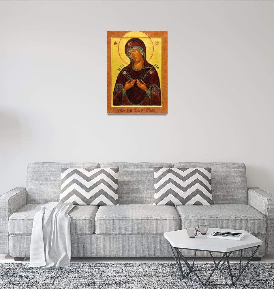 """""""Eastern Orthodox Iconography the mother""""  (2012) by motionage"""