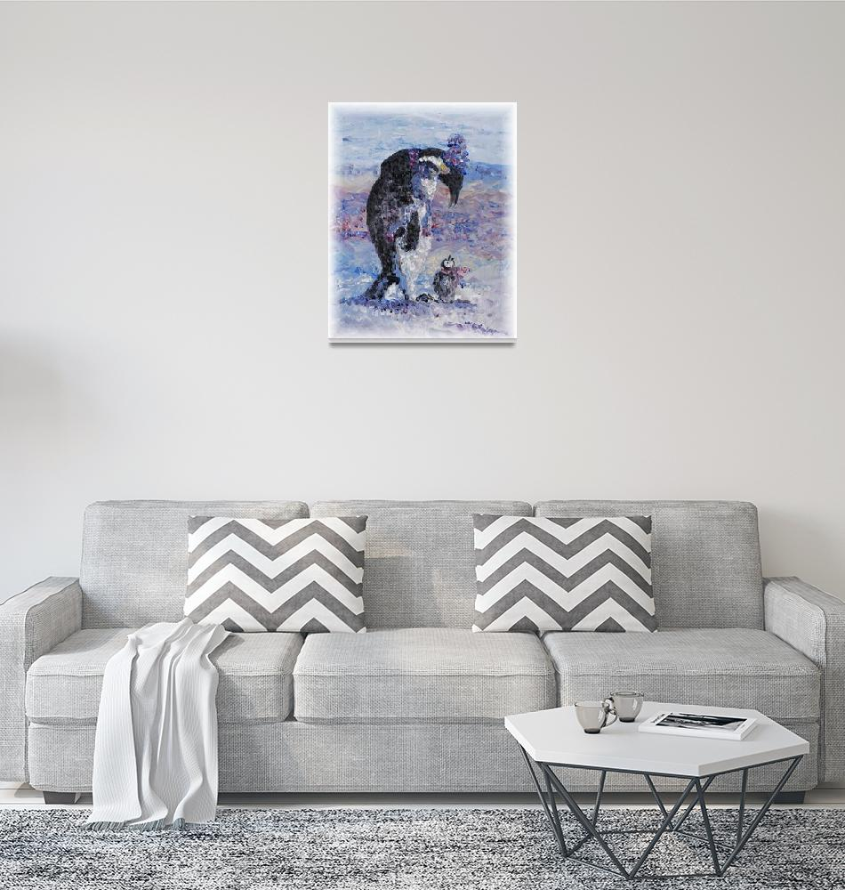 """""""Penguin Love""""  (2007) by nadinerippelmeyer"""