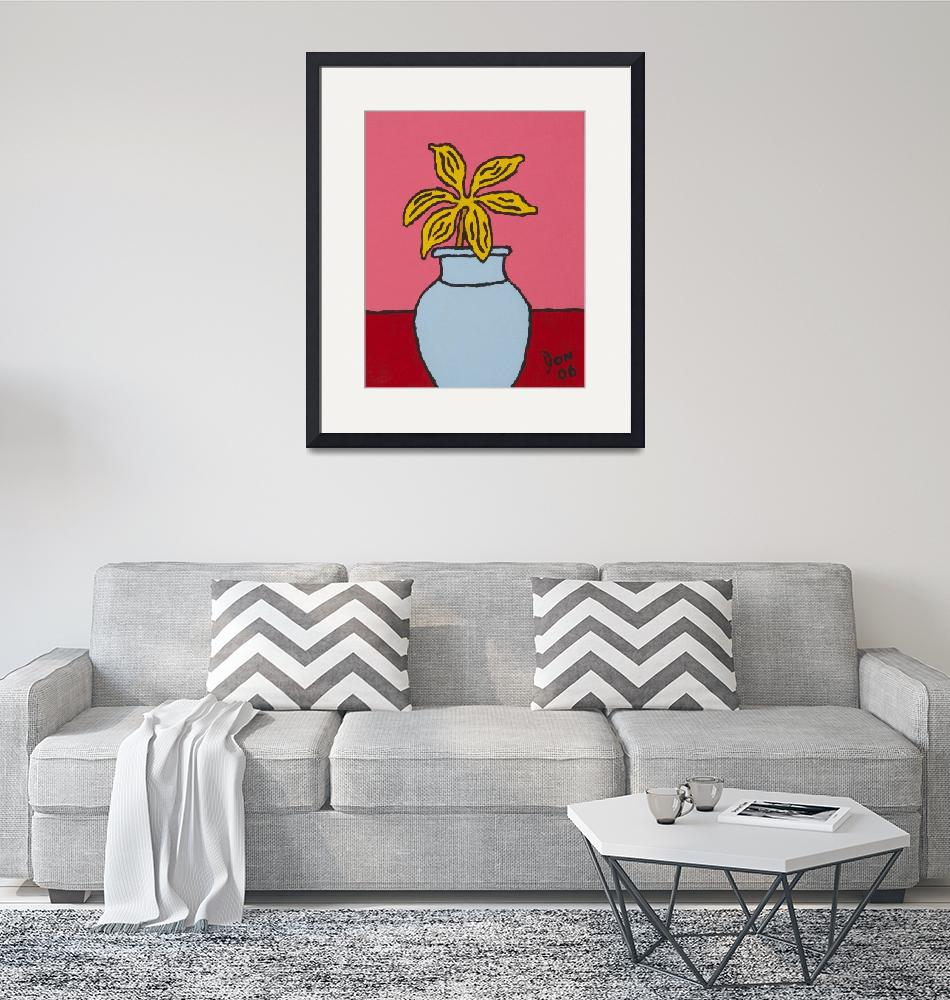 """""""yellow flower light blue vase""""  by DonKing"""