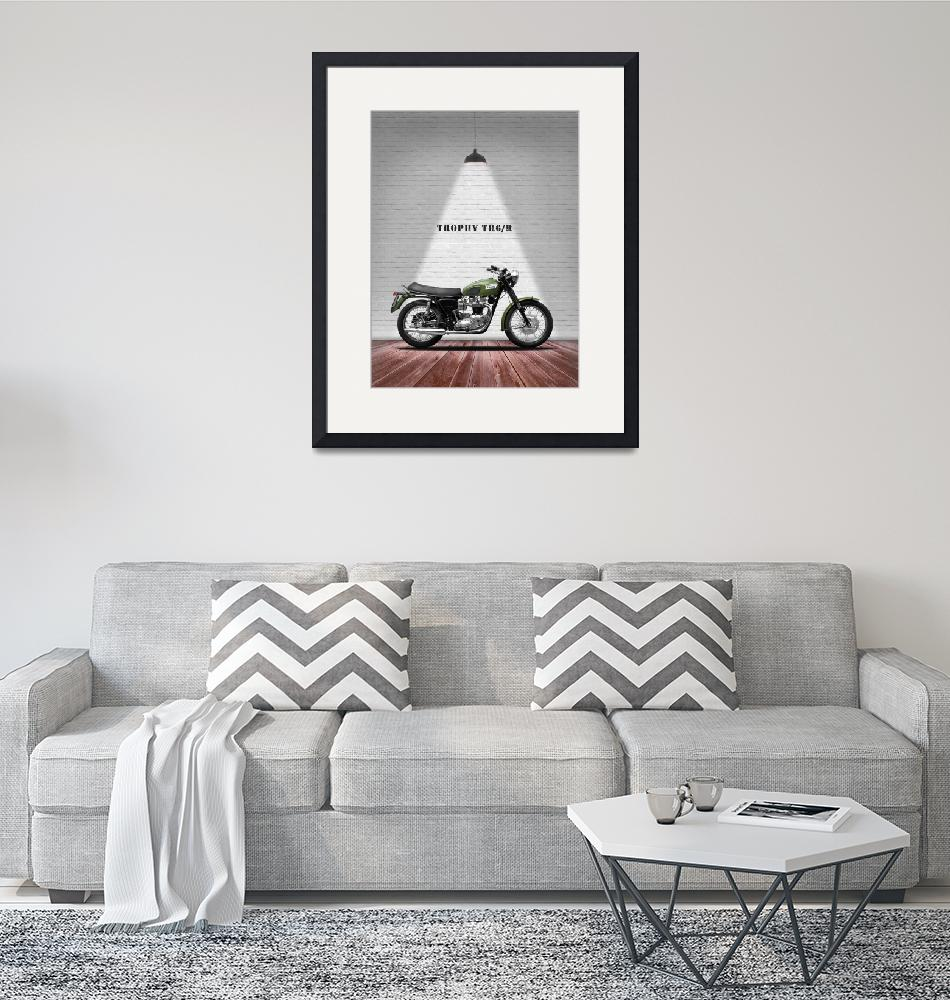 """""""The Vintage Trophy TR6 Motorcycle"""" by mark-rogan"""