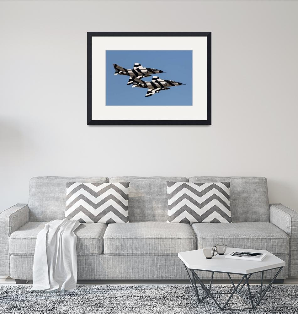"""A-4 zebra paint scheme""  by JohnDaly"