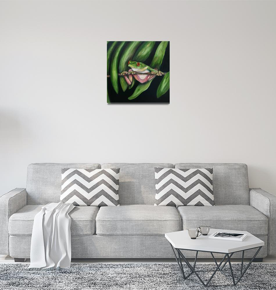 """""""Red eyed Tree Frog #2""""  (2008) by artistamy"""