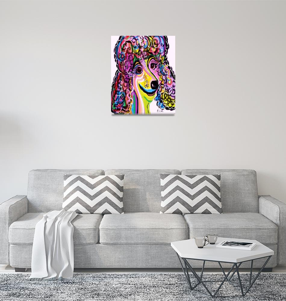"""""""Picture Perfect Poodle""""  (2012) by EloiseArt"""