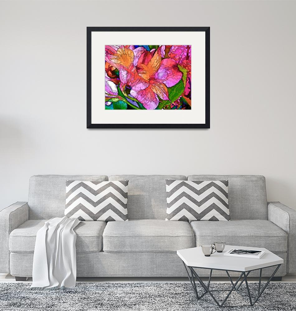 """""""Lily Duo in Magenta and Pink"""" (2017) by LyndaLehmann"""