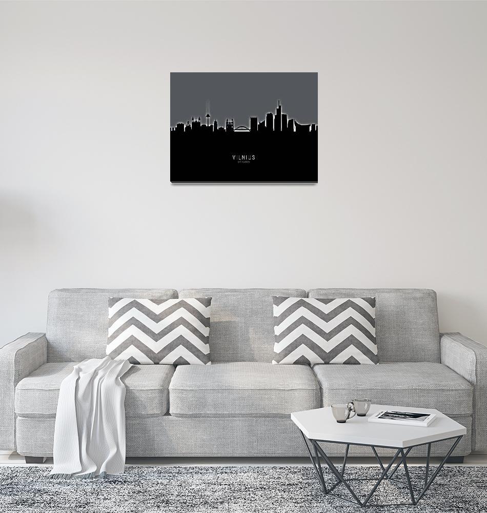 """""""Vilnius Lithuania Skyline""""  (2019) by ModernArtPrints"""