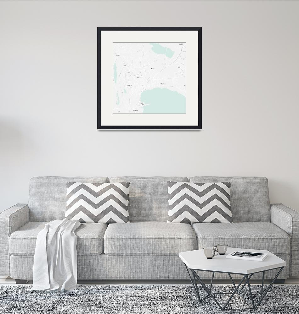 """Minimalist Modern Map of Baku, Azerbaijan 3""  by motionage"
