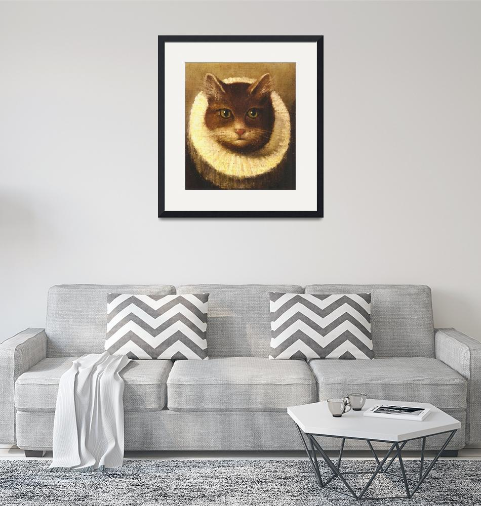 """""""Cat In A Ruff Cute Victorian Art Vintage Painting""""  by masterpiecesofart"""